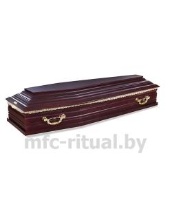 Гроб лакированный 6 граней вишня №1