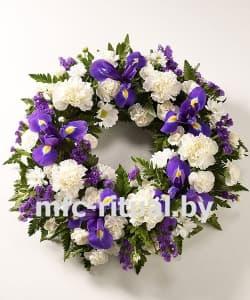 Венок из живых цветов «Светлая память»