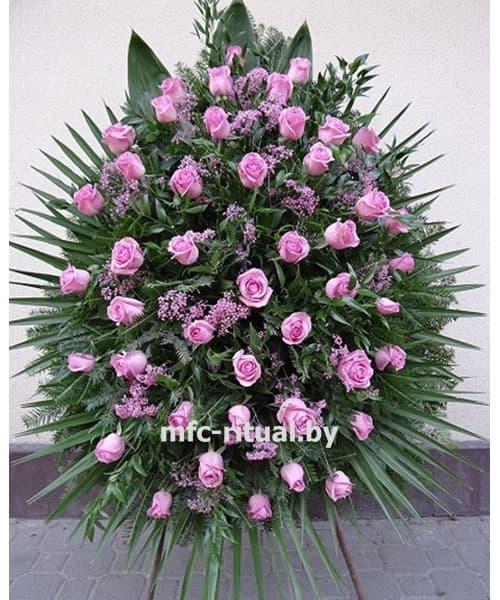 Венок из живых цветов «Мираж»
