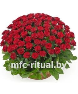 Траурная корзина «Бархатная роза»