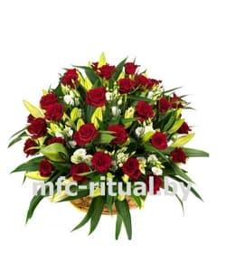 Траурная корзина «Роза и лилия»