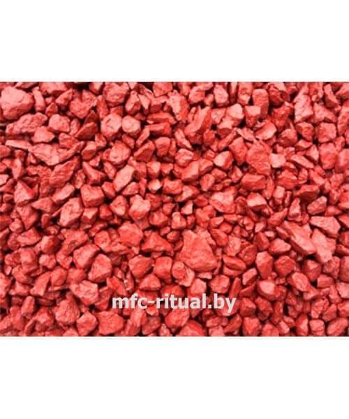 Щебень крашенный декоративный бордовый (20 кг)