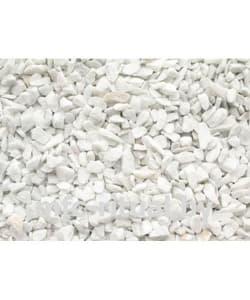 Щебень крашенный декоративный белый мрамор (20 кг)