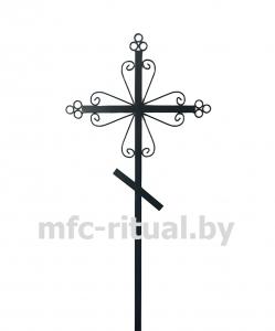 Крест металлический православный тип 4А