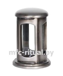 Лампада из полимергранита №2 серебро