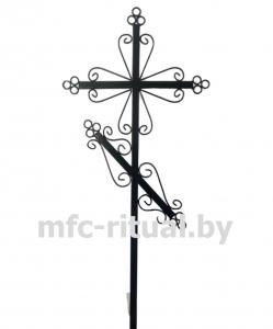 Крест металлический православный тип 5А-ТР