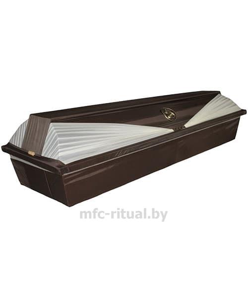 Гроб обитый тканью №6 коричневый/беж