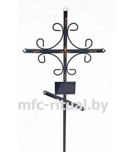 Крест металлический православный МКП-1