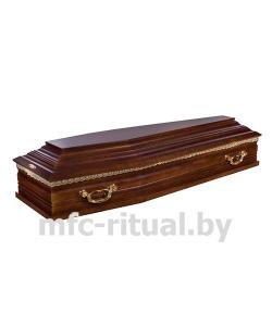 Гроб лакированный 6 граней №1