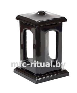 Лампада из полимергранита №1 черная