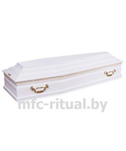 Гроб лакированный 6 граней белый