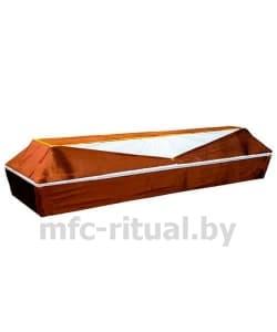 Гроб обитый коричневым велюром