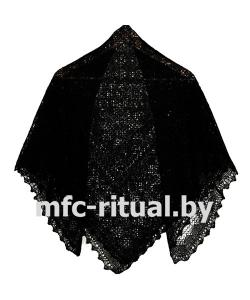 Платок траурный черный