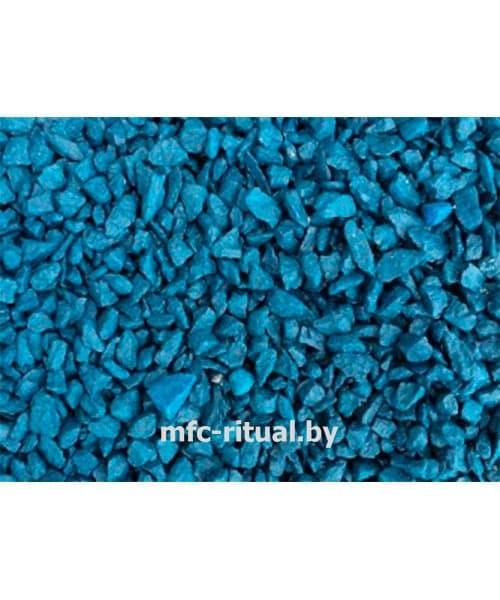 Щебень крашенный декоративный синий (20 кг)