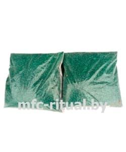 Щебень крашенный декоративный зелёный (20 кг)